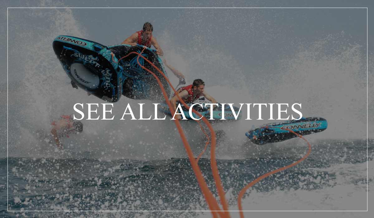 Water sports during Santorini private tours