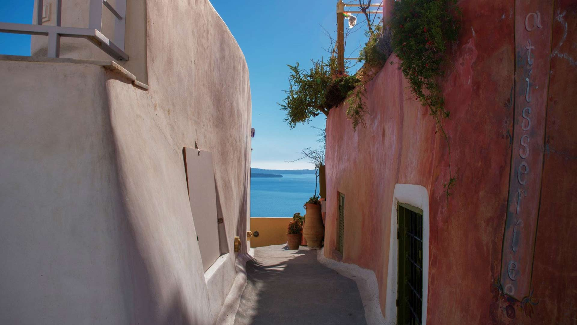 local traditional houses during our private tours in Santorini