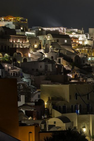 Santorini by night, during santorini private tours