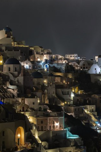 Santorini by night